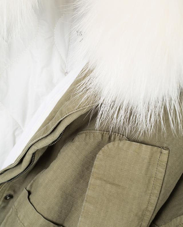 Cotton parka with fur Y SALOMON ARMY