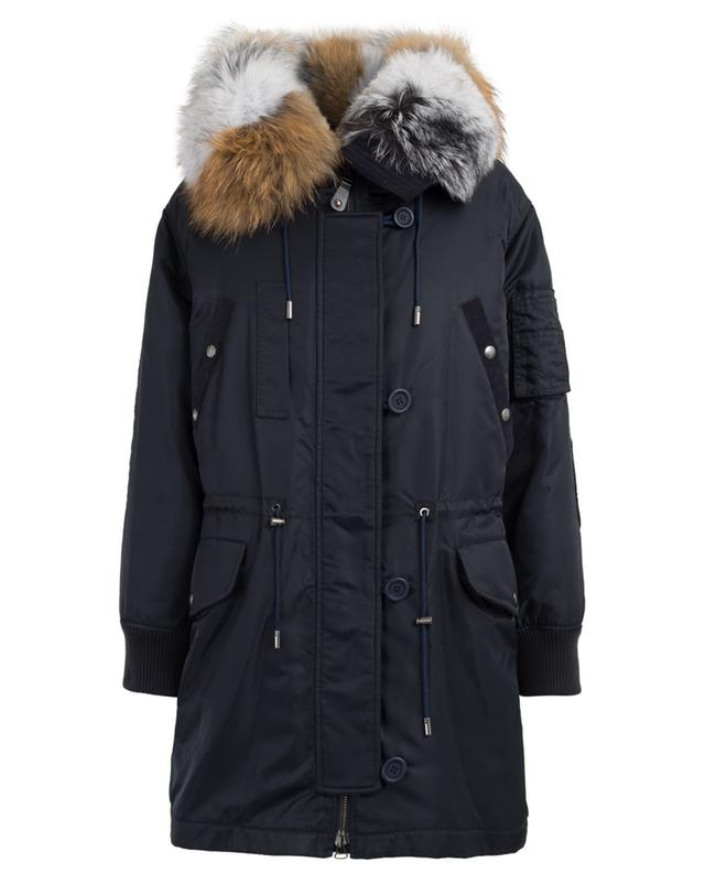 Fur padded and adorned parka Y SALOMON ARMY