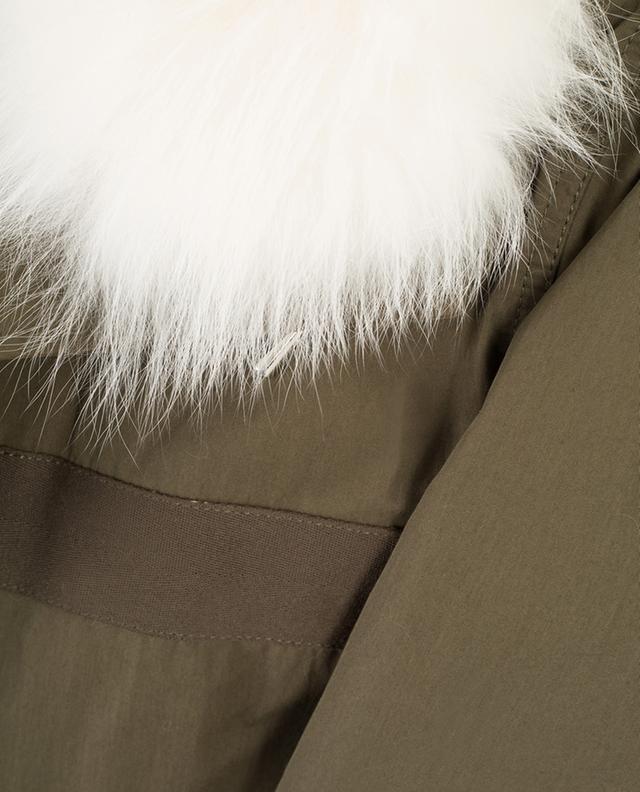 Fur adorned parka Y SALOMON ARMY