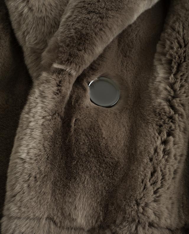 Mantel aus Kaninchenpelz YVES SALOMON