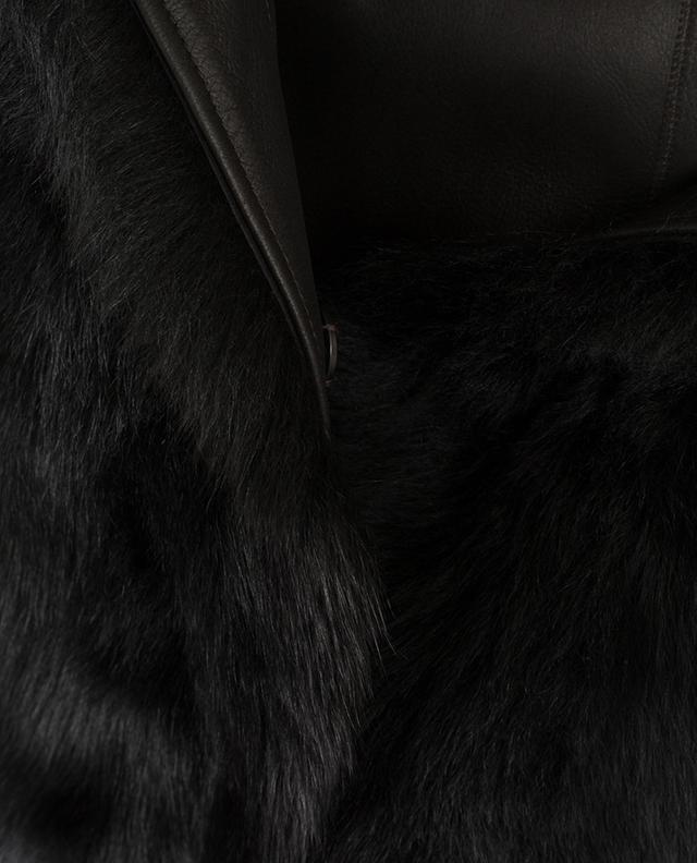 Wendbarer Mantel aus Lammfell YVES SALOMON