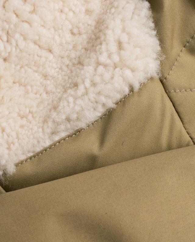 WOOLRICH Parka avec capuche en peau lainée Military - Bongénie-Grieder cc64f60bea3