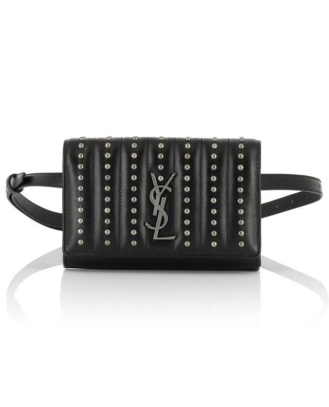 629ebd8377a SAINT LAURENT PARIS Kate studded leather belt bag - Bongénie-Grieder