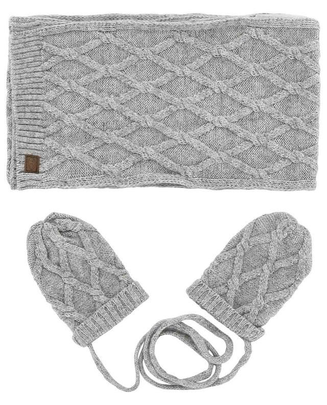 Pleine Nature scarf and mittens set TARTINE ET CHOCOLAT