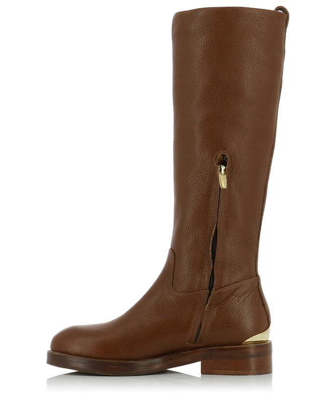 Flat grained leather boots BONGENIE GRIEDER