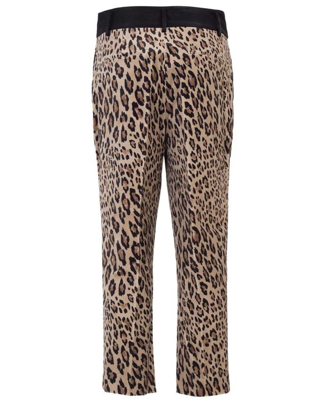 Pantalon raccourci à imprimé léopard FRAME