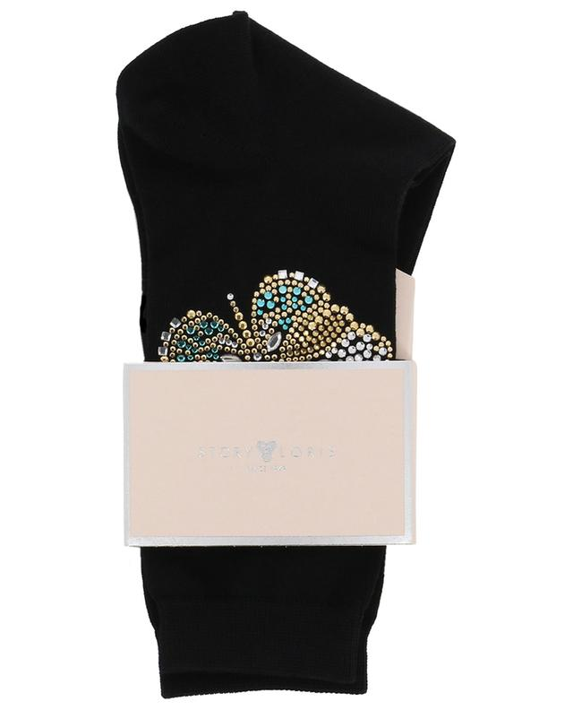 Farfalla crystal clad socks STORY LORIS