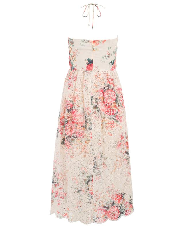 Kleid aus Baumwolle mit Lochstickerei Laelia ZIMMERMANN