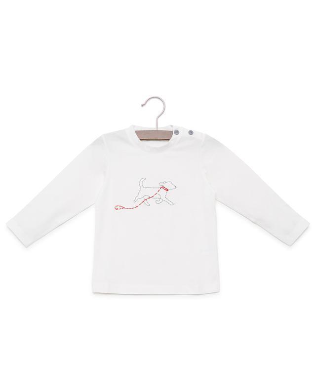 Besticktes T-Shirt mit langen Ärmeln PER TE