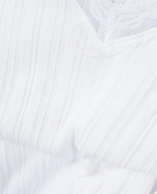 Caraco en coton avec dentelle SKIN