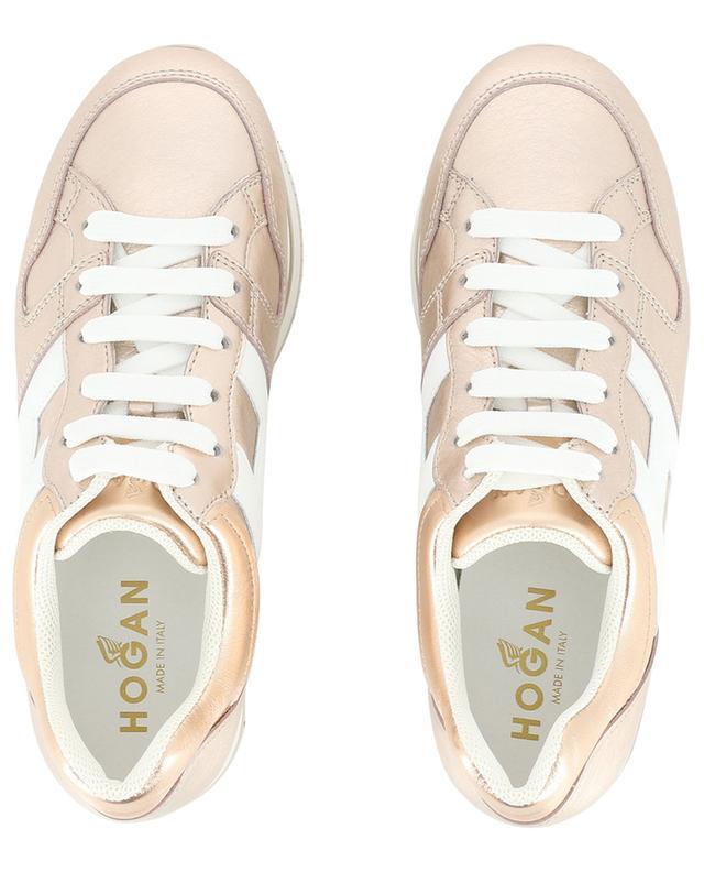 Sneakers aus metallisiertem Leder H222 HOGAN