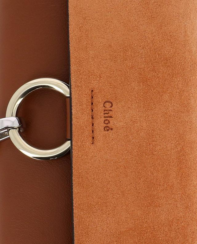 Schultertasche aus Leder und Wildleder Faye CHLOE