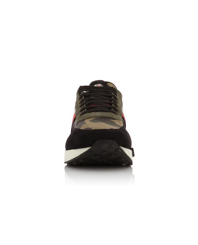 MONCLER Materialmix Sneakers mit Kamouflage Motiv Horace Bongénie Grieder