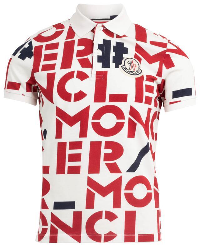 Genius 2 logo print slim fit polo shirt MONCLER
