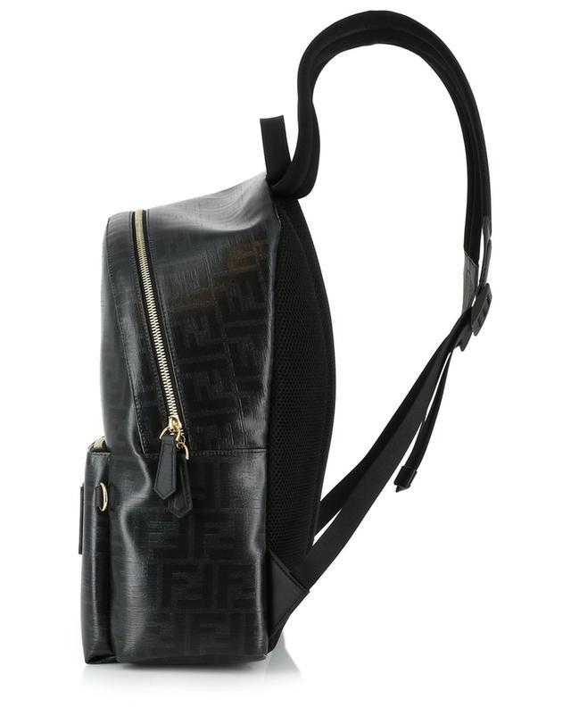 FF logo glazed fabric backpack FENDI