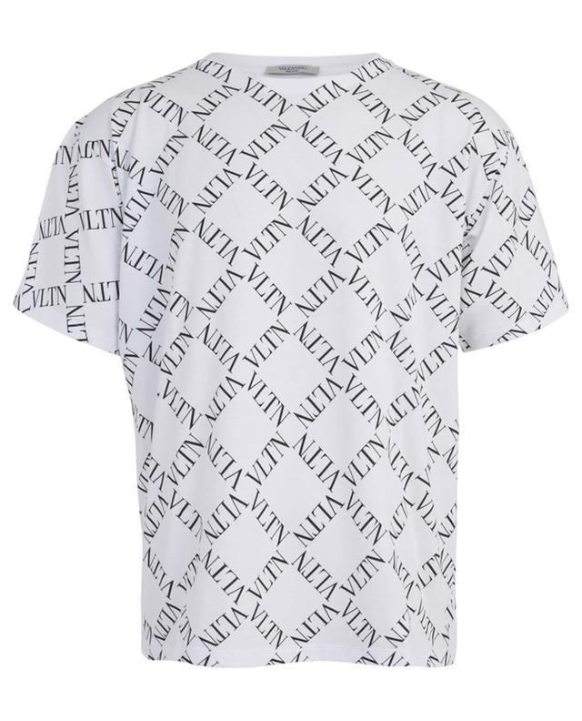 6184085c VALENTINO VLTN Grid logo printed cotton T-shirt - Bongénie-Grieder