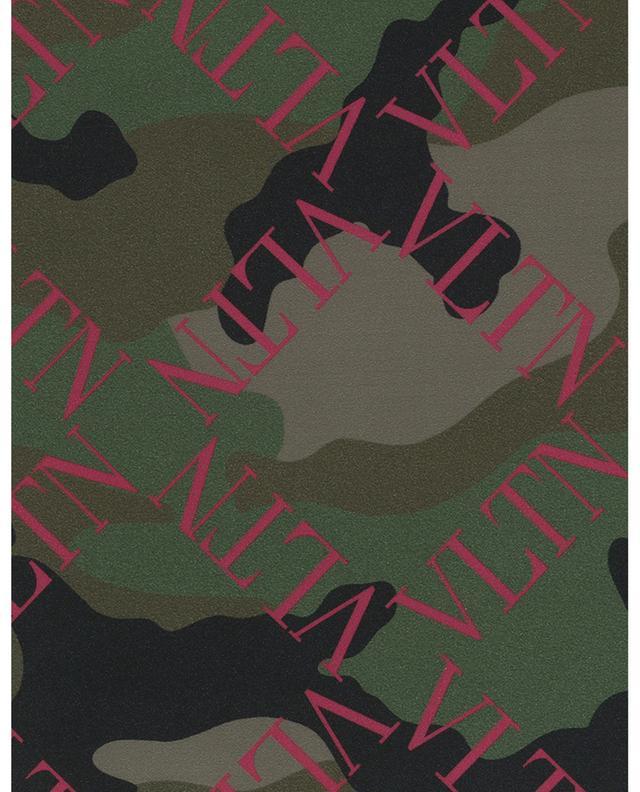 Rucksack aus Nylon VLTN Grid Camouflage VALENTINO