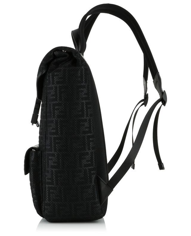 Rucksack aus Mesh und Leder FF FENDI