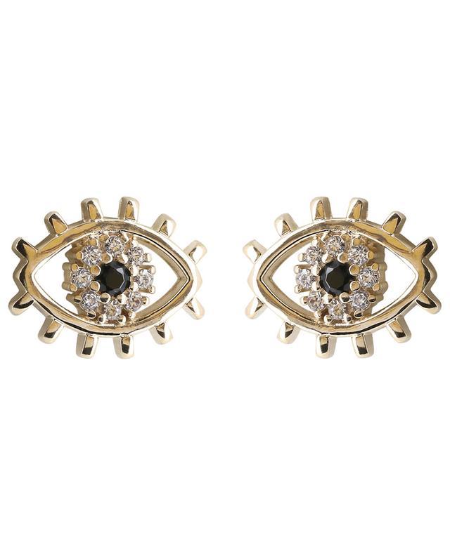 Eye yellow gold-plated silver earrings AVINAS