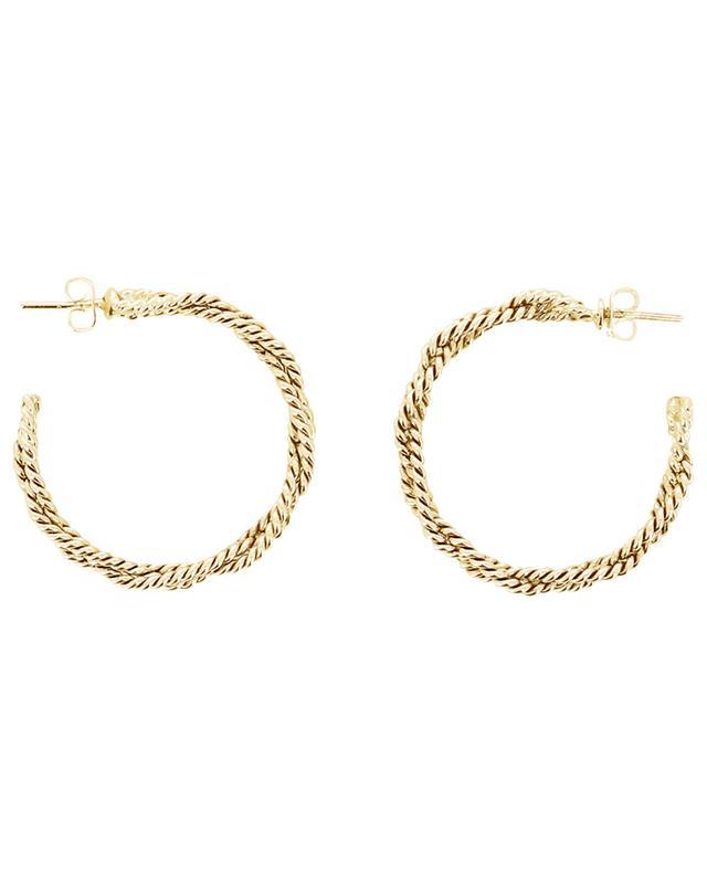 Art 0199 braided hoop earrings POGGI