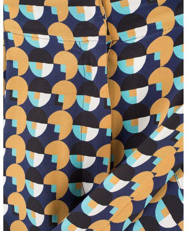 Pantalon large en soie imprimé graphique ETRO