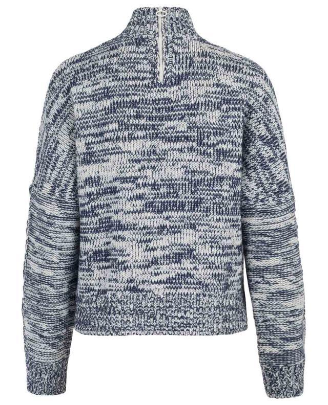 Zweifarbiger Pullover mit geknöpften Ärmeln AKRIS PUNTO