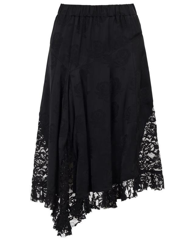 Asymmetrical jacquard and lace skirt KENZO
