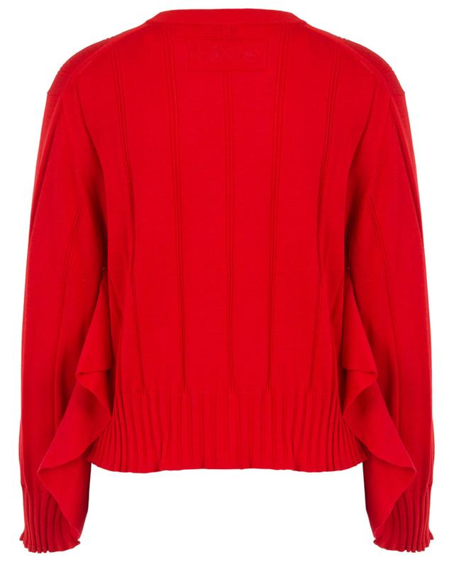 Oversized ruffled cotton and silk blend jumper KENZO