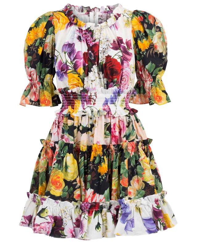 3c9ea678a9a DOLCE   GABBANA Flower Mix ruffled poplin mini dress - Bongénie-Grieder