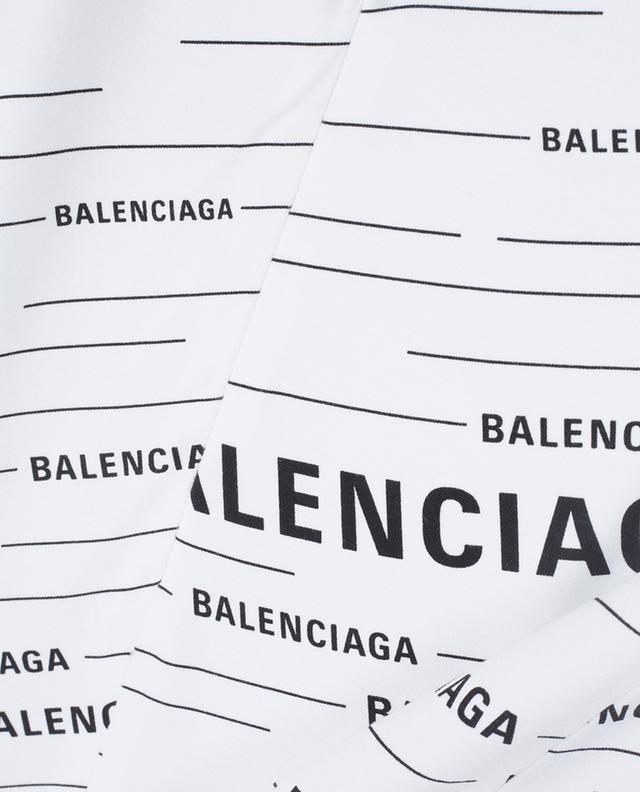 Jupe midi en viscose imprimée logo BALENCIAGA