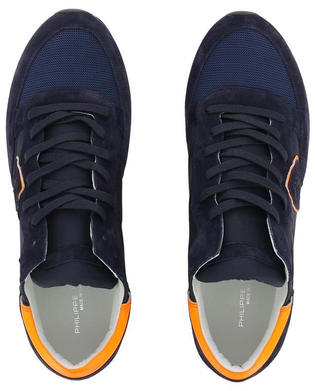 Materialmix-Sneakers mit Neon-Detail Tropez Mondial PHILIPPE MODEL