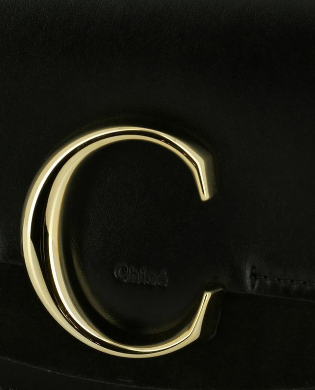 Pochette en cuir avec chaîne Chloé C CHLOE