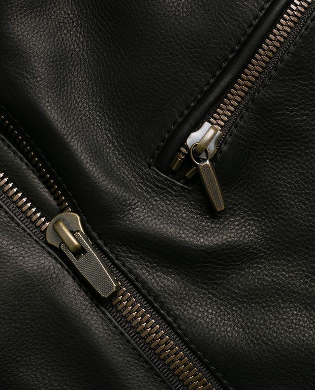 Veste en cuir zippée AJMONE SARTORIAL LEATHER