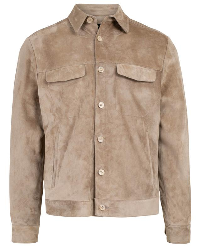 Suede jacket with flap pockets AJMONE SARTORIAL LEATHER