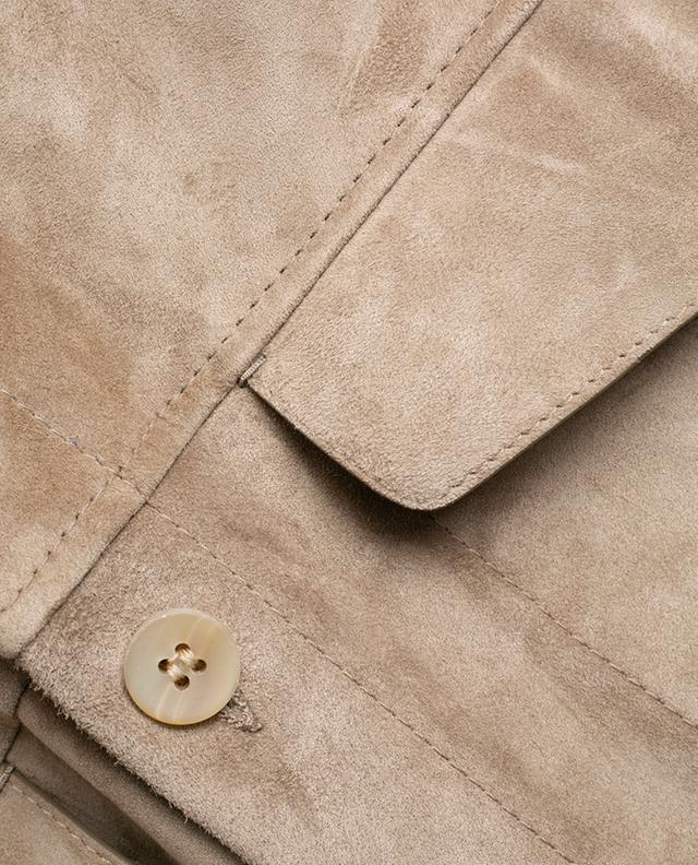 Veste en daim avec poches à rabat AJMONE SARTORIAL LEATHER