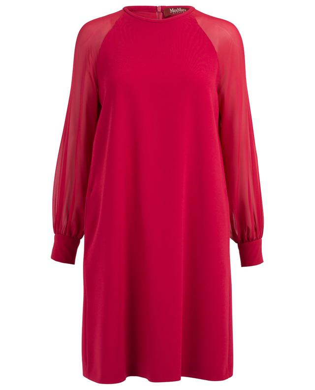 A-line dress with silk sleeves MAXMARA STUDIO