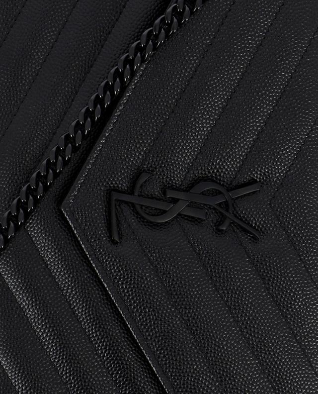 Pochette en cuir grainé Classic Monogram SAINT LAURENT PARIS