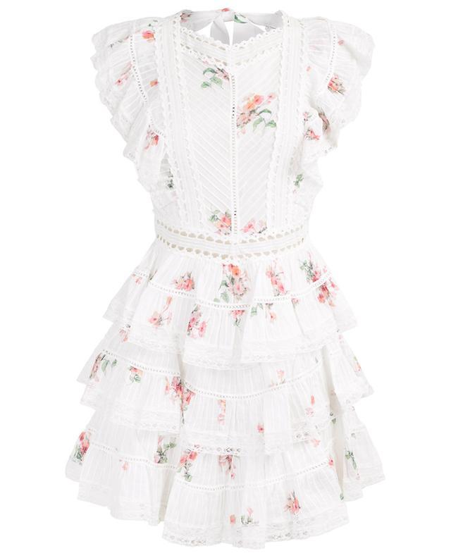 7472e2bd1b ZIMMERMANN Heathers Pintuck Frill short floral dress - Bongénie-Grieder
