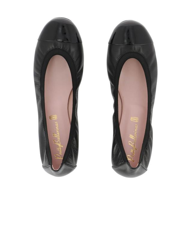 Pretty ballerinas shirley leather ballet flats black a11818