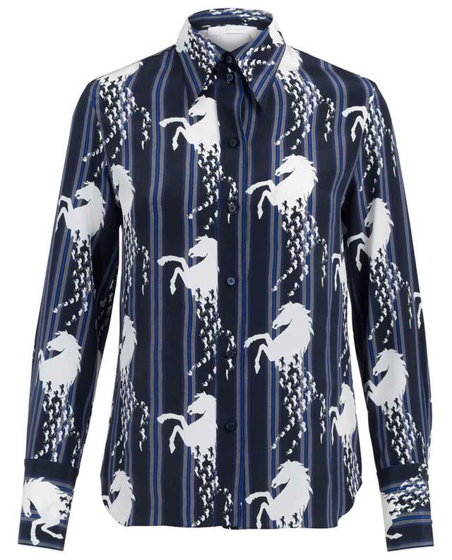 Horses printed silk shirt CHLOE