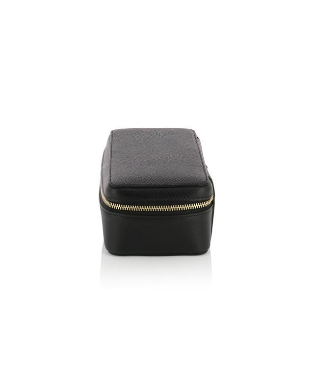 Panama leather watch box SMYTHSON
