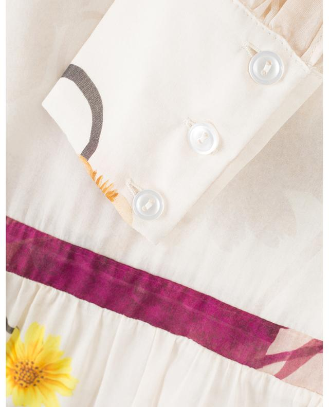 Cotton and silk maxi dress BLACK CORAL