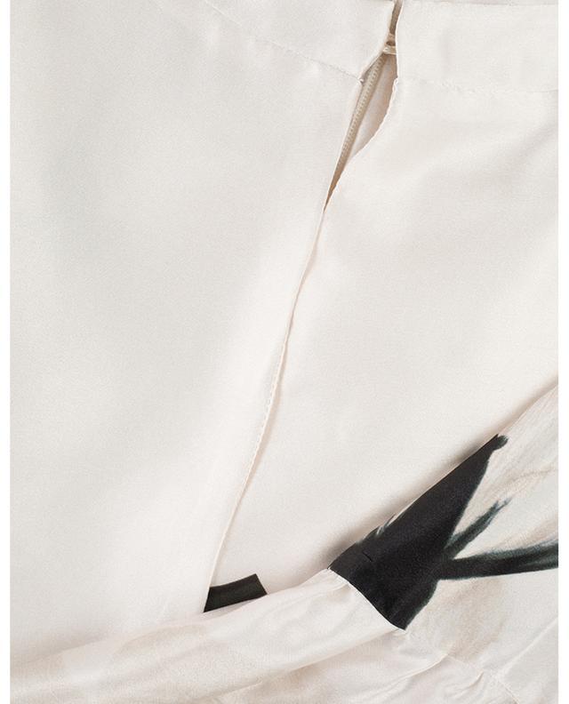 Robe maxi en satin fleuri Silvy New Frame BLACK CORAL