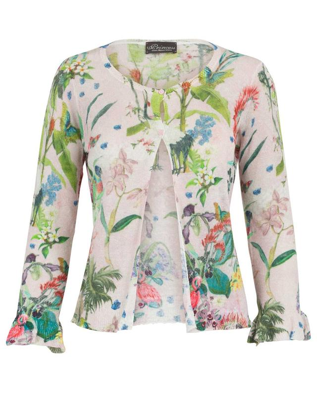 Cardigan en lin imprimé tropical PRINCESS