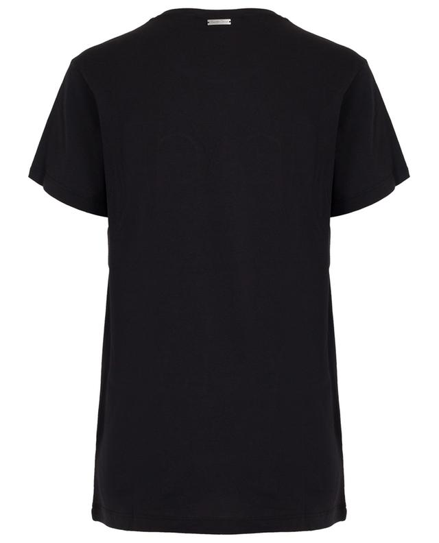 Black relaxed slogan T-shirt QUANTUM COURAGE