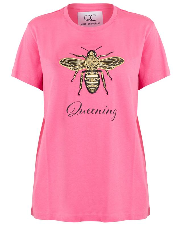 Slogan-T-Shirt mit Biene Queening QUANTUM COURAGE