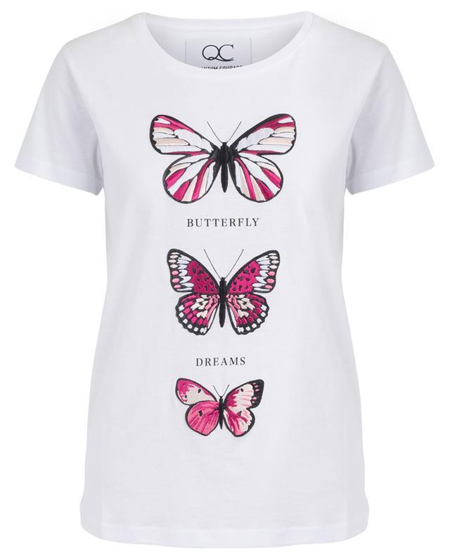T-shirt brodé à message Butterfly Dreams QUANTUM COURAGE