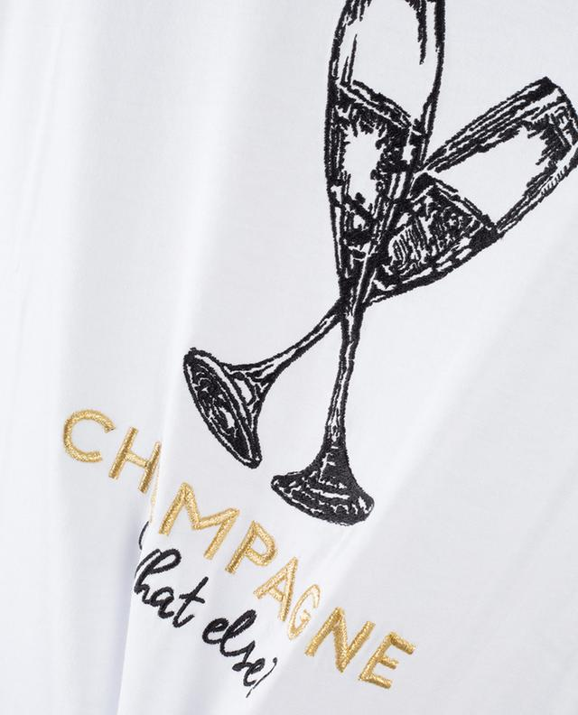 T-shirt à message brodé Champagne What Else QUANTUM COURAGE
