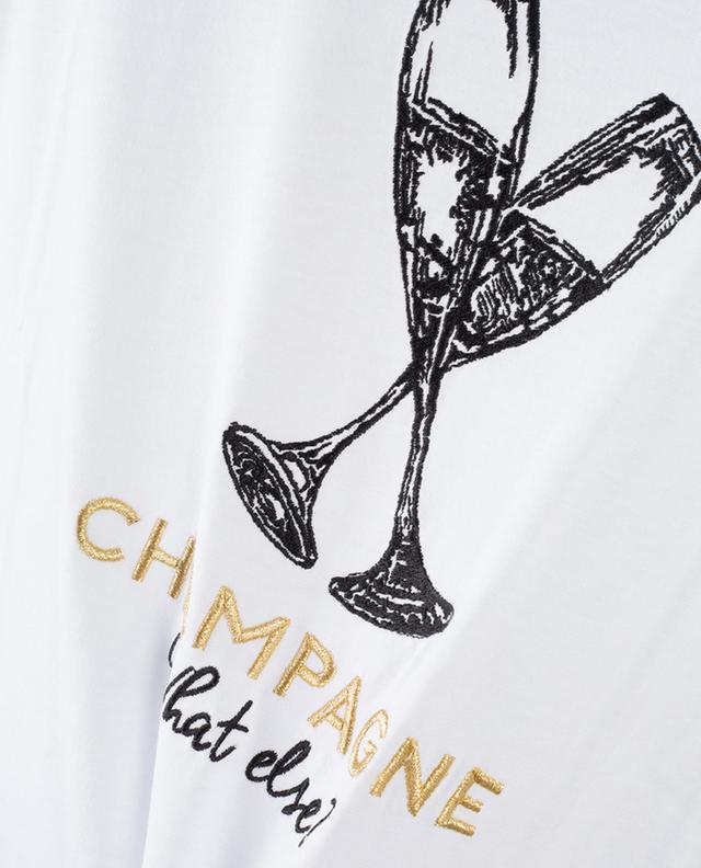 Besticktes Slogan-T-Shirt Champagne What Else QUANTUM COURAGE
