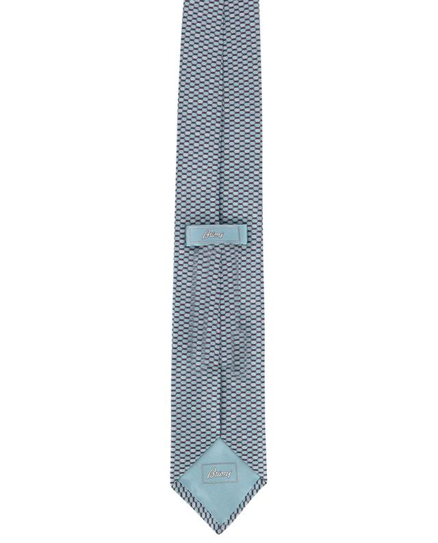 Cravate en soie motif hexagone BRIONI